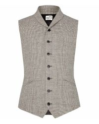 Reiss Natural Dogtooth Waistcoat for men