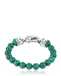 Stephen Webster | Green Raven Head Malachite Bracelet for Men | Lyst