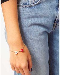 ASOS - Metallic Arrow Heart Ditsy Bracelet - Lyst