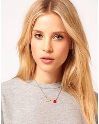 ASOS - Metallic Arrow Heart Ditsy Necklace - Lyst