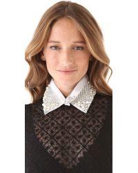 Erickson Beamon | White Twisted Sister Collar | Lyst