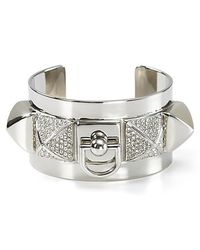 Juicy Couture | Metallic Heavy Metal Pyramid Cuff | Lyst