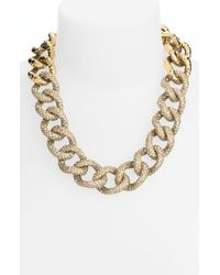 St. John | Metallic Collection Antique Rose Gold Crystal Necklace | Lyst