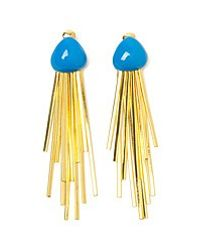 Aurelie Bidermann Metallic Mendoza 18karat Goldplated Enameled Clip Earrings