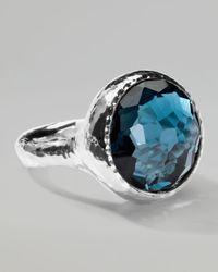 Ippolita | Lollipop London Blue Topaz Ring | Lyst