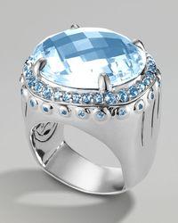 John Hardy Sky Blue Topaz Dome Ring