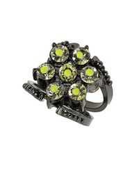 TOPSHOP | Black Reversible Neon Ring | Lyst