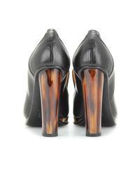 Dries Van Noten | Brown Leather Platform Pumps | Lyst