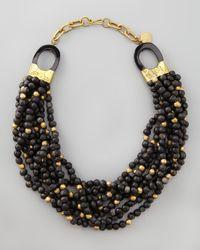 Ashley Pittman | Brown Mpira Dogo Multistrand Necklace Dark Horn | Lyst