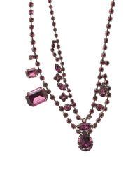 Tom Binns - Amethyst Asymmetric Crystal Necklace Purple - Lyst