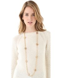 Tory Burch Metallic Walter Rosary Necklace