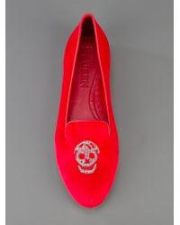 Alexander McQueen | Red Slipper Shoe | Lyst