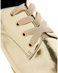 ASOS Moment Metallic Flat Shoes