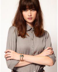 ASOS | Multicolor Double Stone Id Bracelets | Lyst