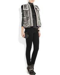 Balmain - Metallic Embellished Velvet Vest - Lyst