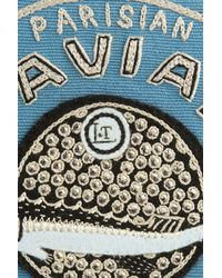 Olympia Le-Tan | Blue Caviar Parisian Embroidered Clutch | Lyst