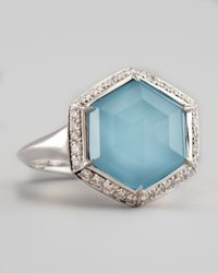 Stephen Webster - Blue Pave Diamond Art Deco Ring - Lyst