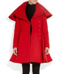 Alexander McQueen | Red Woolfelt Coat | Lyst