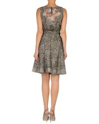 Class Roberto Cavalli - Brown Short Dress - Lyst