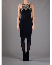 McQ Alexander McQueen | Black Embellished Dress | Lyst