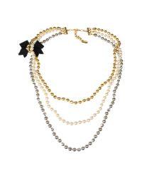 Moschino | Metallic Necklace | Lyst