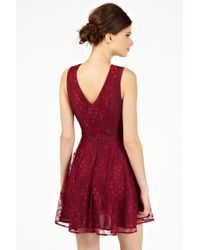 Oasis | Purple Gothic Lace Dress | Lyst