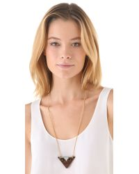 Sandy Hyun - Metallic Deco Triangle Pendant Necklace - Lyst