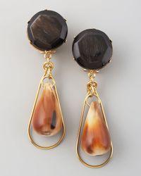 Marni Metallic Drop Clip Earrings