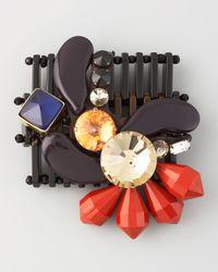 Marni | Multicolor Enamel Multi Stone Pin | Lyst