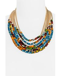 Cara Couture | Multicolor Tribal Multistrand Necklace | Lyst