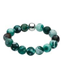 Kit Heath | Green Dew Bracelet Stone Bead Silver Ball | Lyst