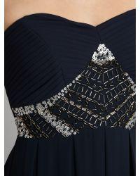 TFNC London | Blue Embellished Maxi Dress | Lyst