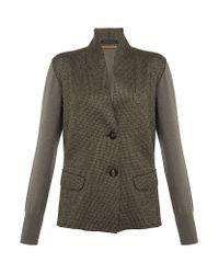 Lamberto Losani | Gray Knitted Jacket | Lyst