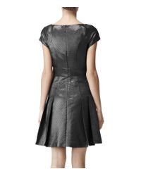 Reiss Gray Reiss Mara Fit and Flare Dress Graphite