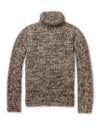 Belstaff Brown Lewiston Chunkyknit Cashmere Rollneck Sweater for men