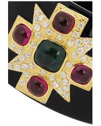Kenneth Jay Lane - Metallic Maltese Cross 18karat Goldplated Cubic Zirconia Cuff - Lyst