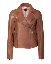 Marc By Marc Jacobs | Kahlua Brown Sergeant Leather Jacket | Lyst