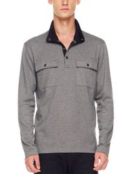 Michael Kors | Gray Half-zip Sweater, Ash Melange for Men | Lyst