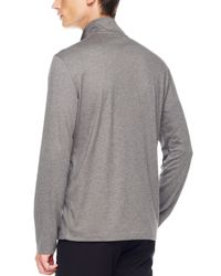 Michael Kors | Gray Half-zip Sweater, Ash Melange for Men | Lyst