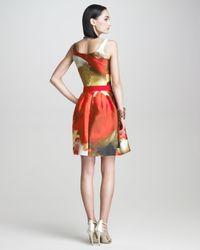 Oscar de la Renta - Red Tulip print Aline D - Lyst