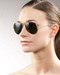 Ray-Ban | Metallic Original Aviator Sunglasses | Lyst