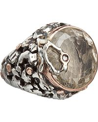 Sandra Dini | Metallic Rutilated Quartz Diamond Round Ring | Lyst