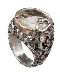 Sandra Dini   Metallic Rutilated Quartz Diamond Round Ring   Lyst
