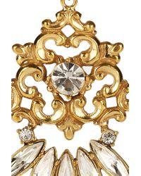Tom Binns - Metallic Rokoco Dumont 22-Karat Gold-Plated Crystal Earrings - Lyst