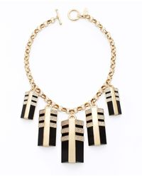 Ann Taylor | Black Art Deco Statement Necklace | Lyst