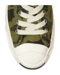Converse | Green Jack Purcell Camoprint Canvas Sneakers | Lyst