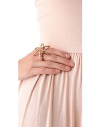 Low Luv by Erin Wasson - Metallic Cosmos Double Finger Ring - Lyst