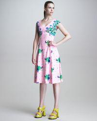 Marc Jacobs Pink Dot Floral Print Dress