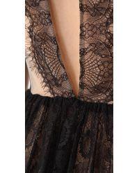 Three Floor - Black Lace Up Dress - Lyst