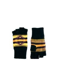 ASOS - Black Asos Fingerless Gloves with Aztec Design for Men - Lyst